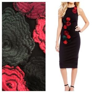 ✨Just in!✨Betsey Johnson Fitted Rose Dress
